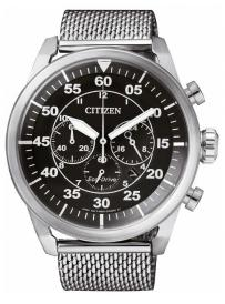 Pánské hodinky CITIZEN Eco Drive Mesh Chrono CA4210-59E