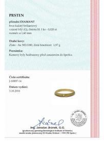 Prsten AU 585/000 1;97gr OPTIMA DIAMANT OP1089701