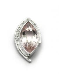 Přívěs AU 585/000 př.Beryl-Morganit+př.Diamant 1;72gr OPTIMA DIAMANT JO2228105