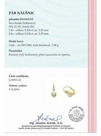 Náušnice AU 585/1000 dia 2.00gr OPTIMA DIAMANT JO1890304
