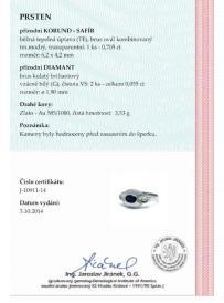 Prsten AU 585/000 3;53gr OPTIMA DIAMANT OP1091101