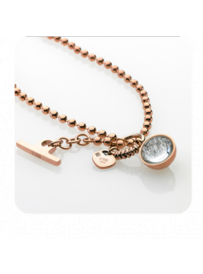 Náhrdelník Crysta Ball Necklace Rose Gold 9980645/RG