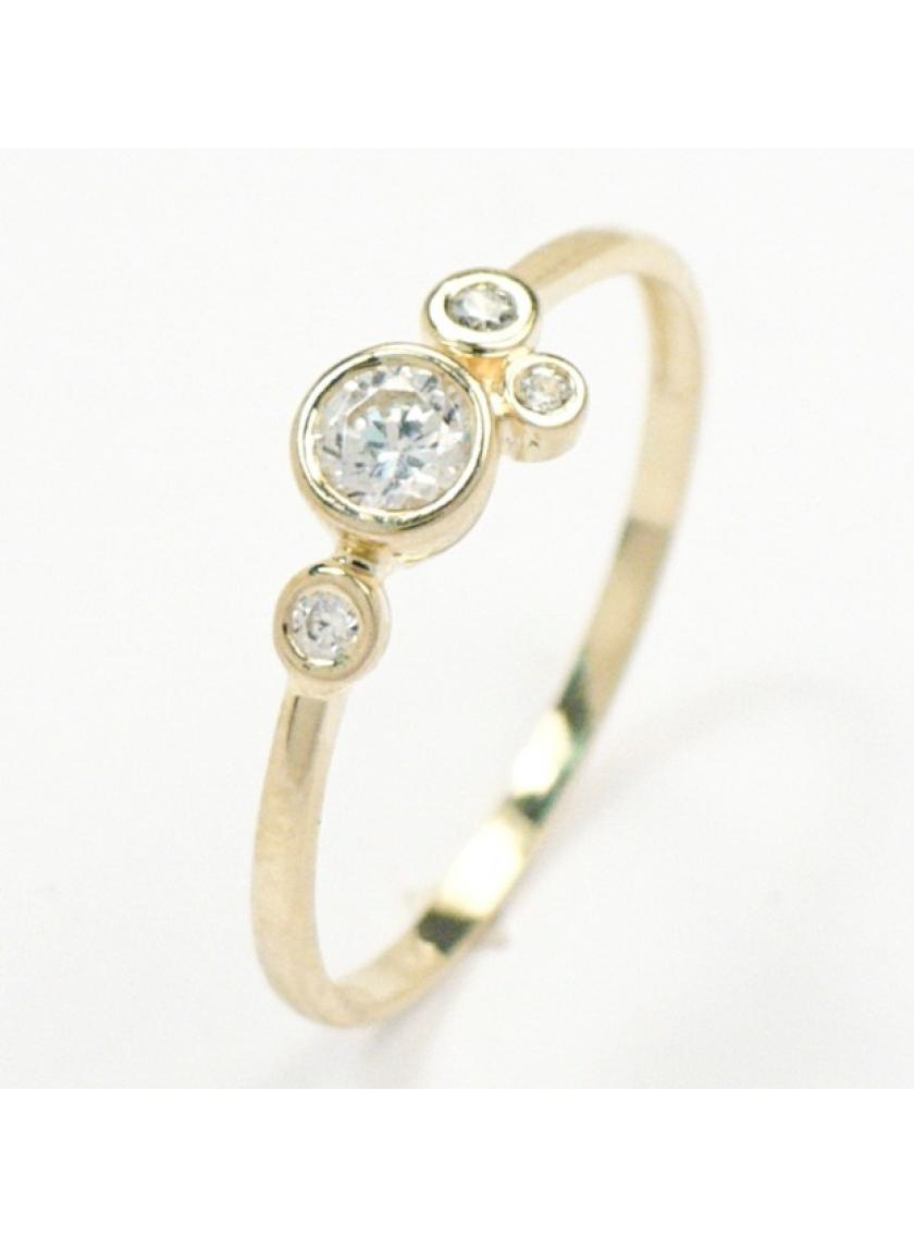 Zlatý prsten se zirkony ZL22304130601