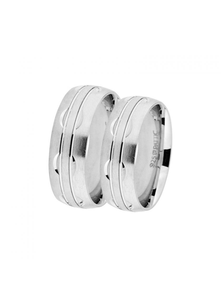 Stříbrný snubní prsten PATTIC AF0037