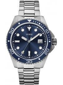 Pánské hodinky GUESS Silver Tone W0610G1
