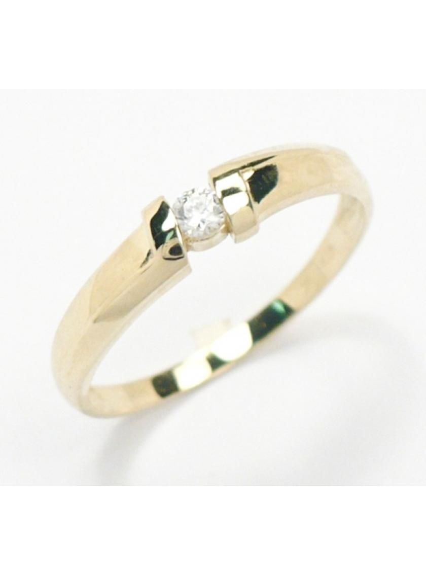 Zlatý prsten se zirkonem ZL22304129601