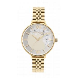 Dámské náramkové hodinky JVD SUNDAY ROSE Spirit GOLD SUN-S13