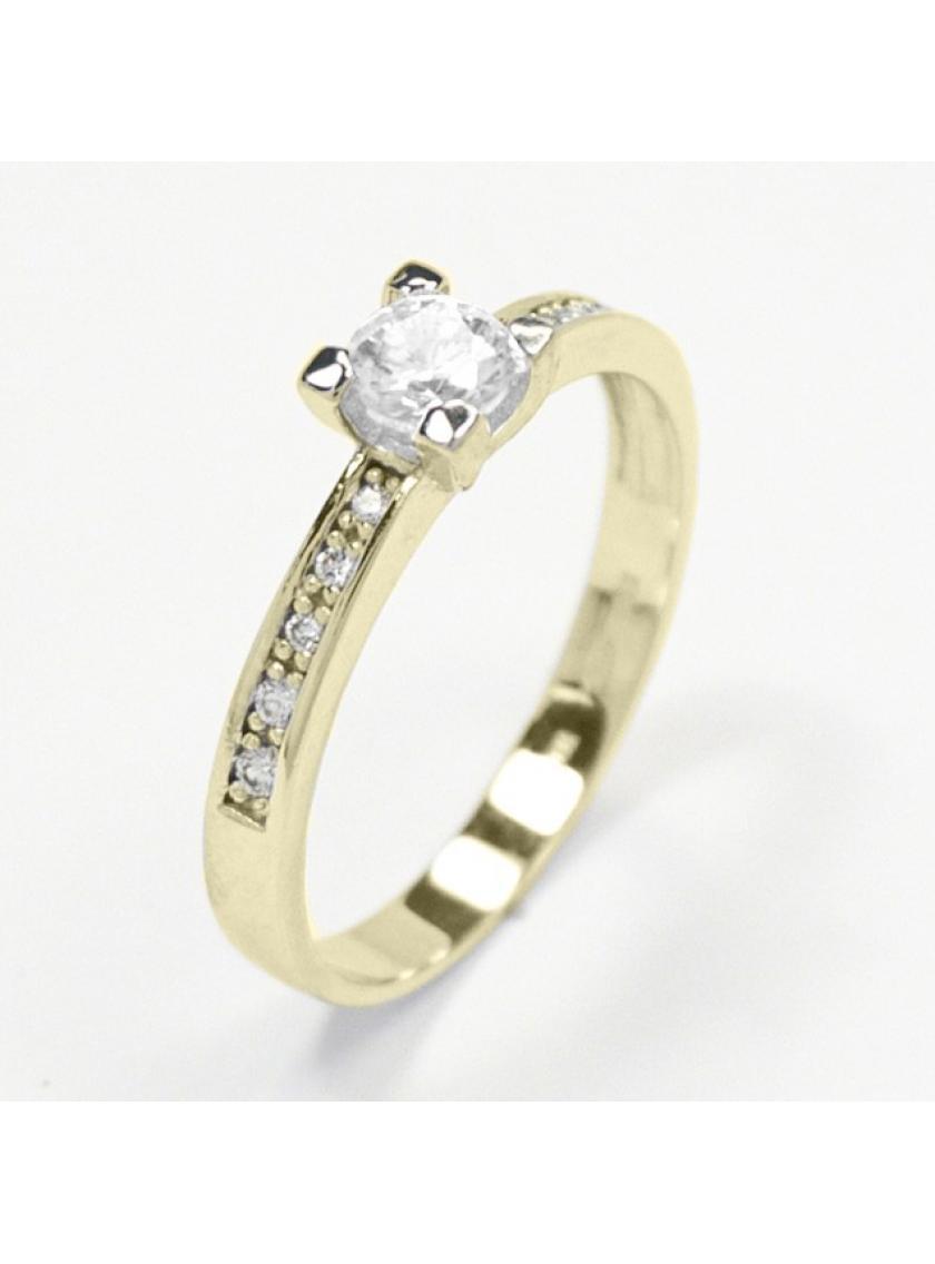 Zlatý prsten se zirkony ZL22304130401