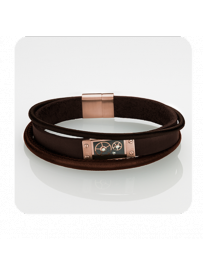 Náramek STORM Cog Leather Bracelet - Brown 9980691/BR