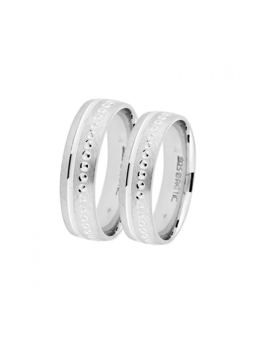 Stříbrný snubní prsten PATTIC AF1182