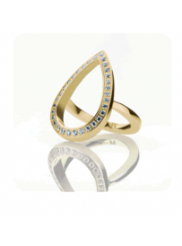 Prsten STORM Elipsia Ring-Gold 9980626/GD/M
