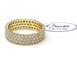 Prsten ze žlutého zlata a zirkonyAU 585/000 4,20 gr,Z447001