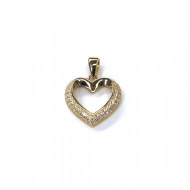 Príves srdce Pattic AU 585/000 1,4 gr ARP018805