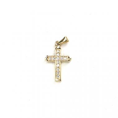 Přívěs ze žlutého zlata kříž se zirkony Pattic AU 585/000 1,05 gr LMG2205Y