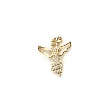 Príves zo žltého zlata a zirkónmi anjel Pattic 0,80 g BV025805Y