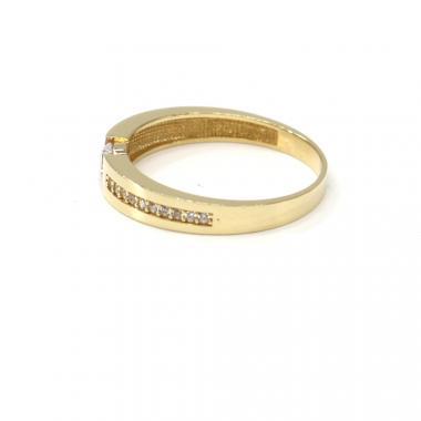 Prsten ze žlutého zlata se středovým zirkonem Pattic AU 585/000 2,67 gr, BA08301