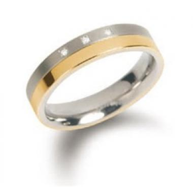 Titanový prsten BOCCIA s diamanty 0129-04