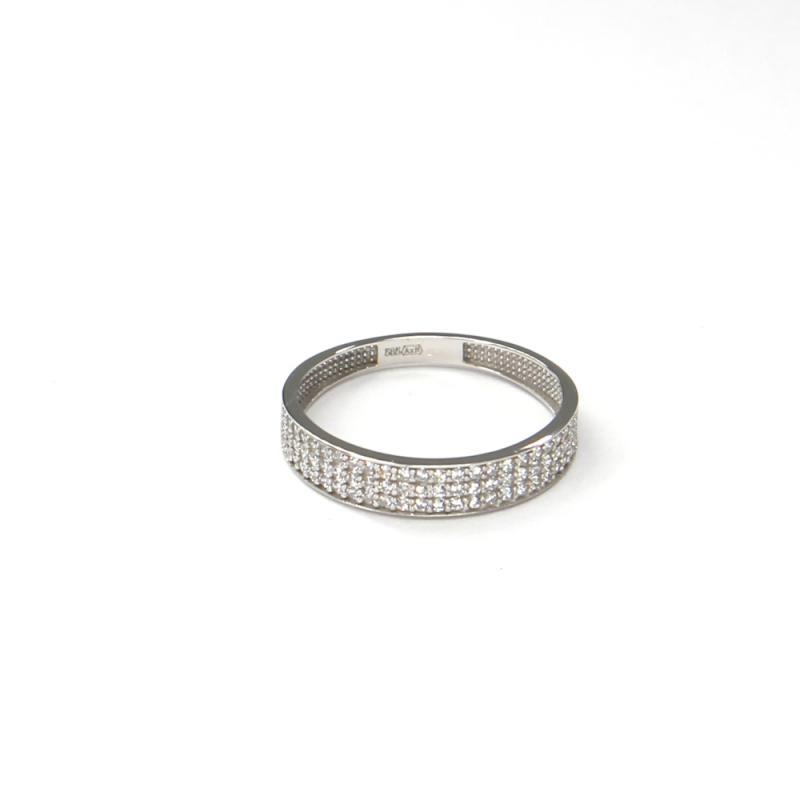 Prsten z bílého zlata se zirkony Pattic AU 585/000 1,40 gr ARP034001W-54