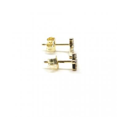 Zlaté naušnice PATTIC AU 585/000 0,95 gr GU00504 se zirkony