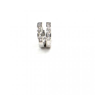 Náušnice z bílého zlata se zirkony Pattic AU 585/000 2,05 gr ARP438204W