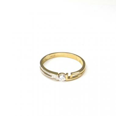 Prsten ze žlutého zlata a zirkonem Pattic AU 585/000 1,60 gr ARP027801-57