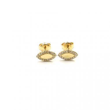 Náušnice PATTIC ze žlutého zlata se zirkony AU 585/000 0,95g BV018604Y