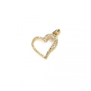 Přívěs ze žlutého zlata srdce se zirkony Pattic AU 585/000 0,9g BV030705Y