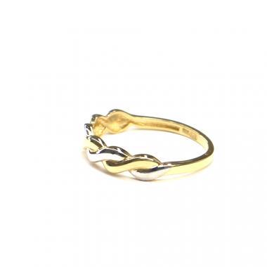 Prsten ze žlutého/bílého zlata Pattic AU 585/000 1,25 gr, ARP595501-52