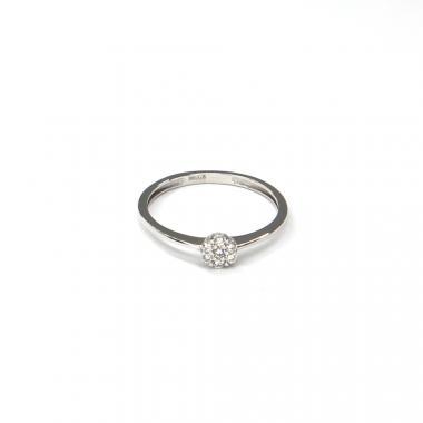 Prsten z bílého zlata se zirkony Pattic AU 585/000 1,20 gr ARP544201W-51