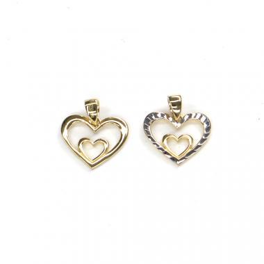 Přívěs ze žlutého zlata srdce - oboustranné Pattic AU 585/000 0,90 gr ARP110105Y