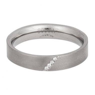Titanový prsten BOCCIA s diamanty 0121-07
