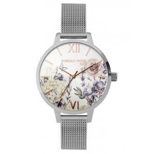 Dámské hodinky JVD Sunday Rose Fashion Ancient Garden SUN-F01