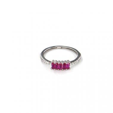 Prsten z bílého zlata s rubínem Pattic AU 585/000 1,35 gr LMG7101RW-50