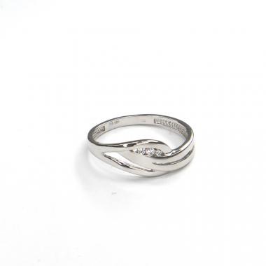Prsten z bílého zlata se zirkony Pattic AU 585/000 2,25 gr GURDC0111710101-58