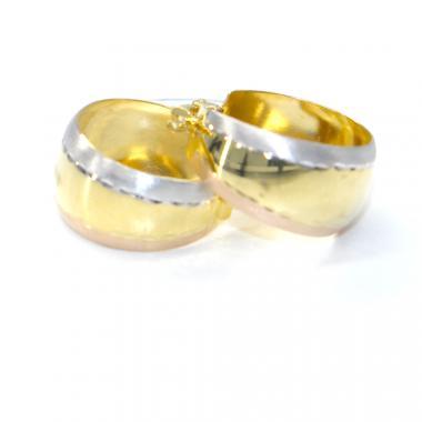 Naušnice ze žlutého zlata Pattic AU 585/000 2,93 gr, BA07204