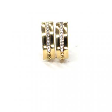Náušnice ze žlutého zlata se zirkony  Pattic AU 585/000 2,00 gr ARP060004Y
