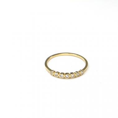 Prsten ze žlutého zlata a zirkony Pattic AU 585/000 0,95 gr ARP560201Y-54