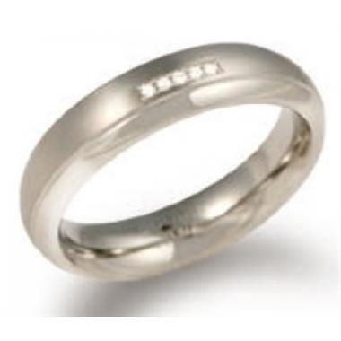 Titanový prsten BOCCIA s diamanty 0130-0957