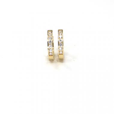 Náušnice ze žlutého zlata Pattic AU 585/000 1,95 gr ARP438204Y