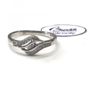Prsten z bílého zlata se zirkony Pattic AU 585/000 1,50 gr, PR12661330
