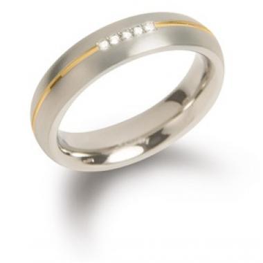 Titanový prsten BOCCIA s diamanty 0130-0455