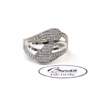 Prsten z bílého zlata se zirkony AU 585/000 2,60gr, Z445001