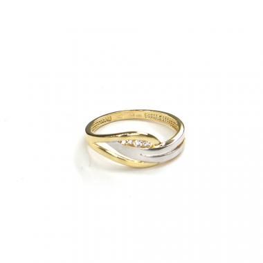 Prsten ze žlutého zlata a zirkony Pattic AU 585/000 1,90 gr GURDC0111710001-54
