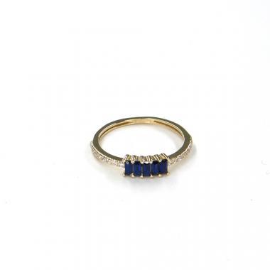 Prsten ze žlutého zlata s akvamarínem Pattic AU 585/000 1,35 gr LMG7101BLY-52