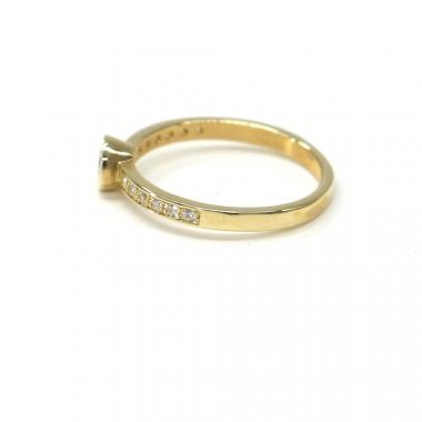 Prsten ze žlutého zlata se středovým zirkonem Pattic AU 585/000 2,67 gr, PR681035001B