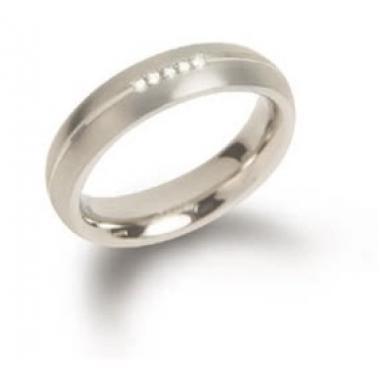 Titanový prsten BOCCIA s diamanty 0130-03