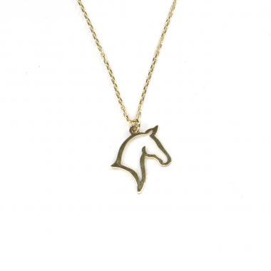 Náhrdelník ze žlutého zlata s přívěskem koně Pattic AU585/000 1,25 gr GUNDD1103570002