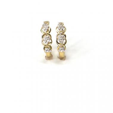 Náušnice ze žlutého zlata se zirkony Pattic AU 585/000 2,05 gr ARP025704Y